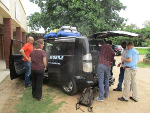 Picture of Interplast team arriving in Karonga