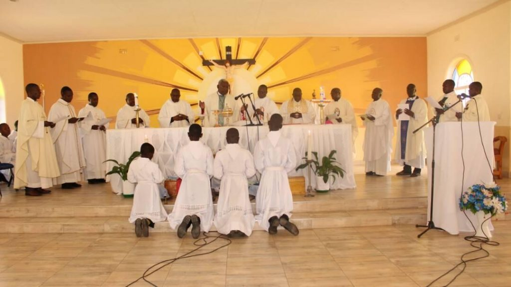 Picture of In communion with the Bishop, priests from all the parishes of the Diocese were part of the celebration