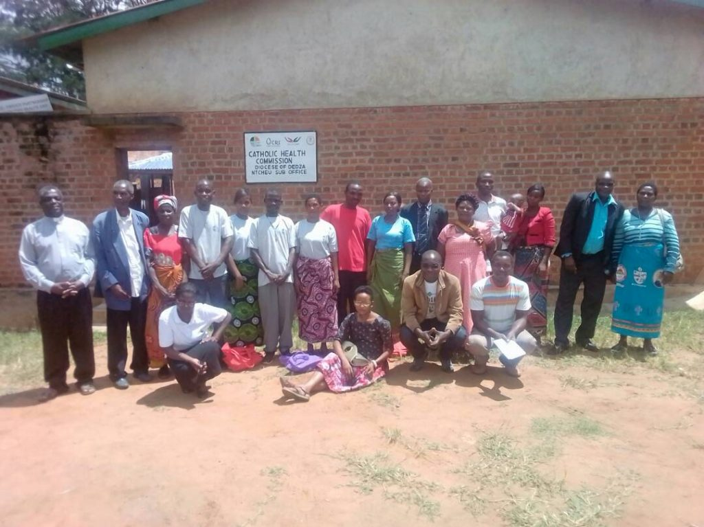 Picture of Joint teams of the two dioceses after the learning visit have a group photo at Ntcheu Parish