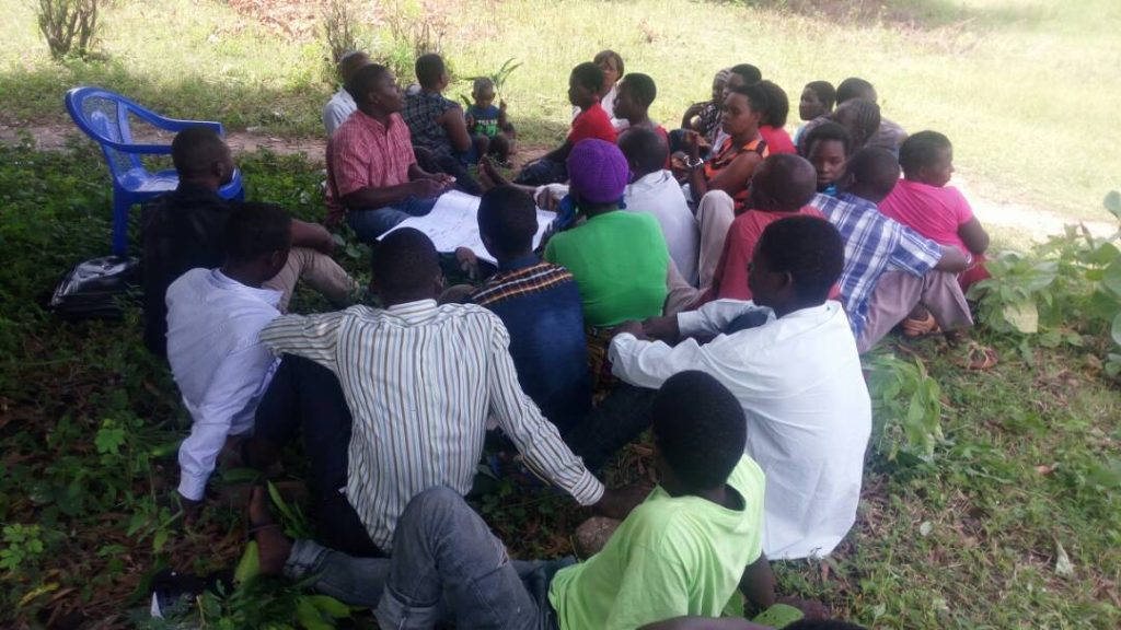 Picture of Focus Group Discussion in progress - young people actively participated