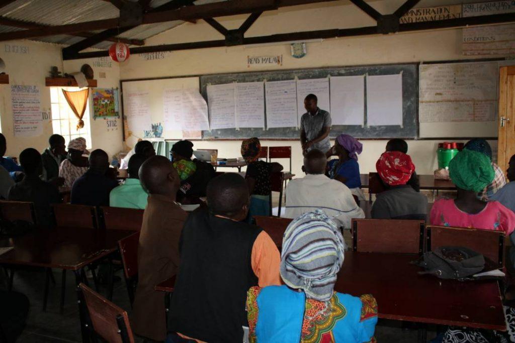 Picture of Paul Mwandira, Catechetical Methodology Advisor for St Michael's Parish facilitating