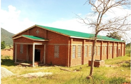 Construction of a new church building underway at Chisankhwa Outstation