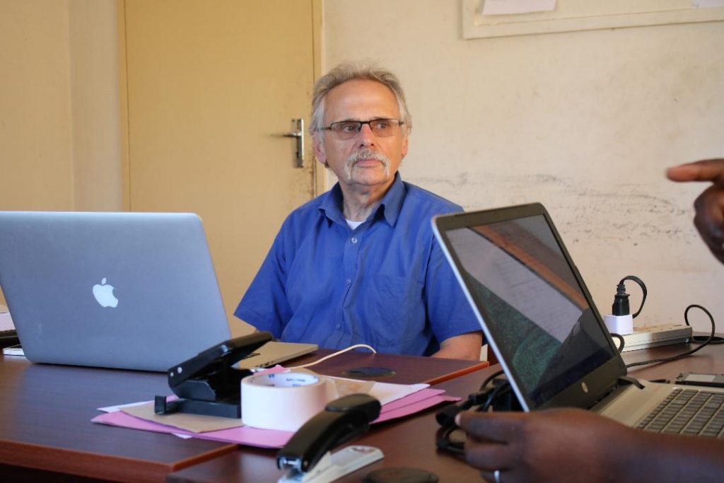 Senior Expert Mr Skrotski at the Curia Offices of the Diocese of Karonga