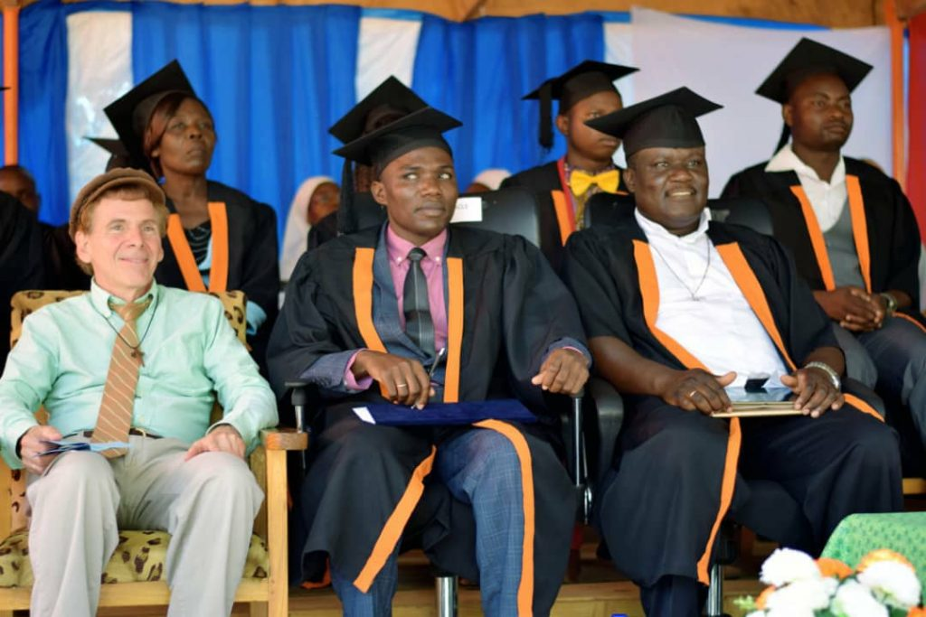 Director of Miracle Technical Institute, Bro Pacharo Mfune, captured during the ceremony