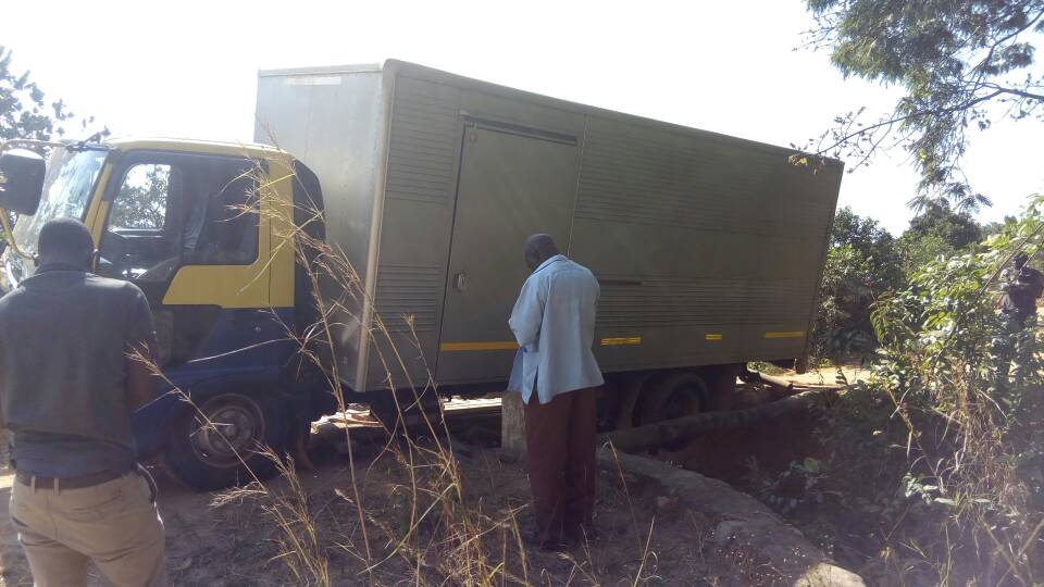 Poor roads and narrow bridges affected the distribution exercise