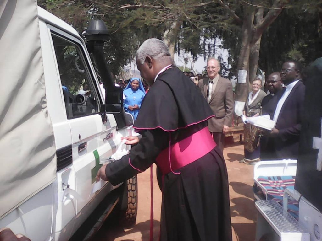 Bishop Mtumbuka during the handover ceremony