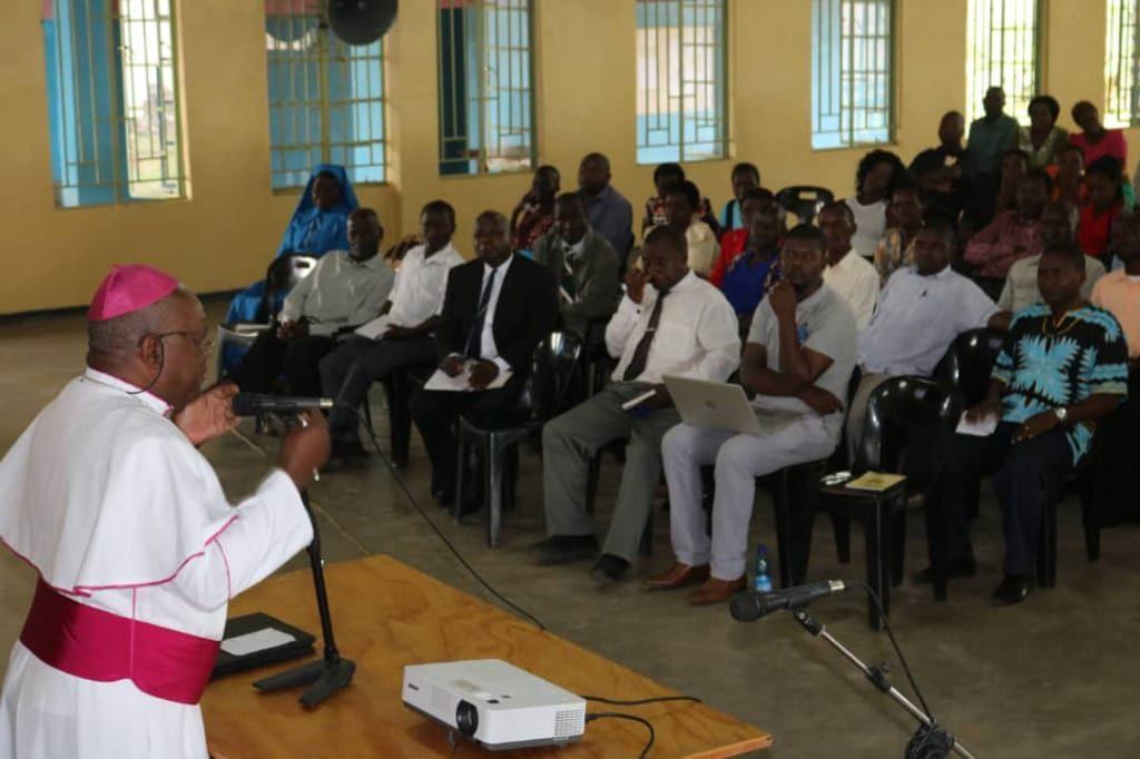 Bishop Martin Mtumbuka making a presentation during the conference
