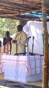 Bishop Mtumbuka during the Eucharistic celebration