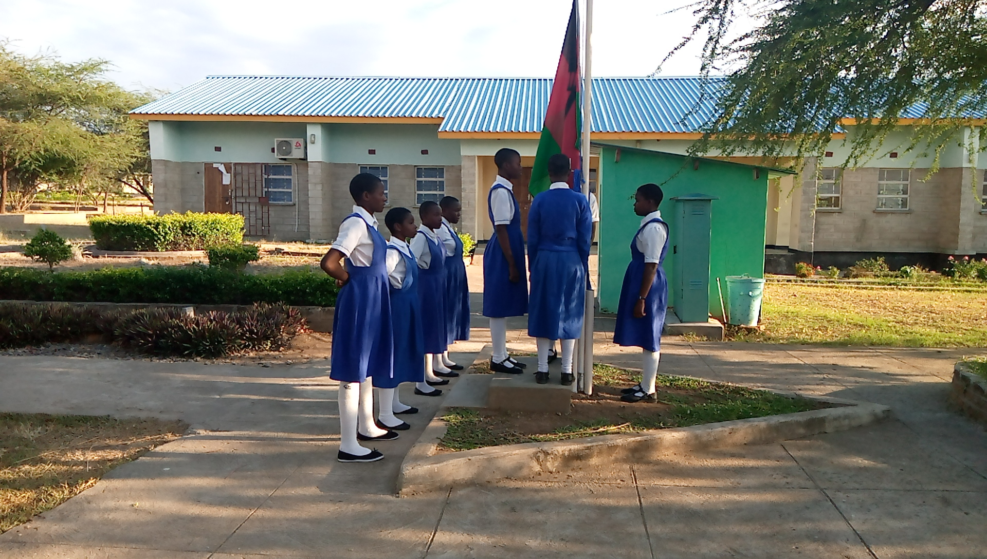 St Mary's Trains 36 Students in National Flag Management