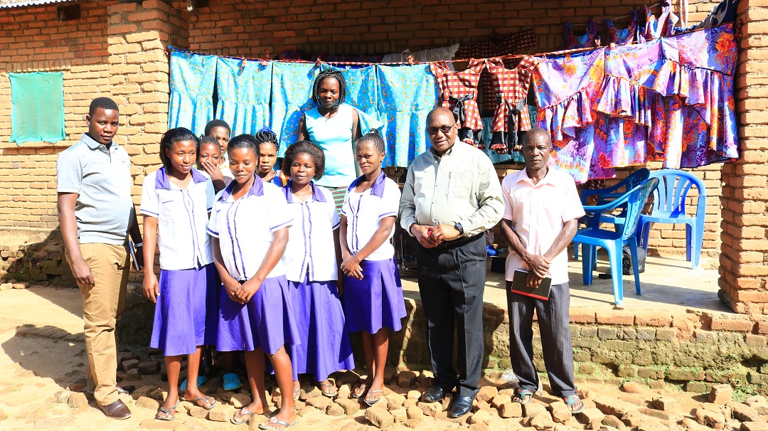 Monsignor Chitete Impressed with Community Based Vocational Skills Project