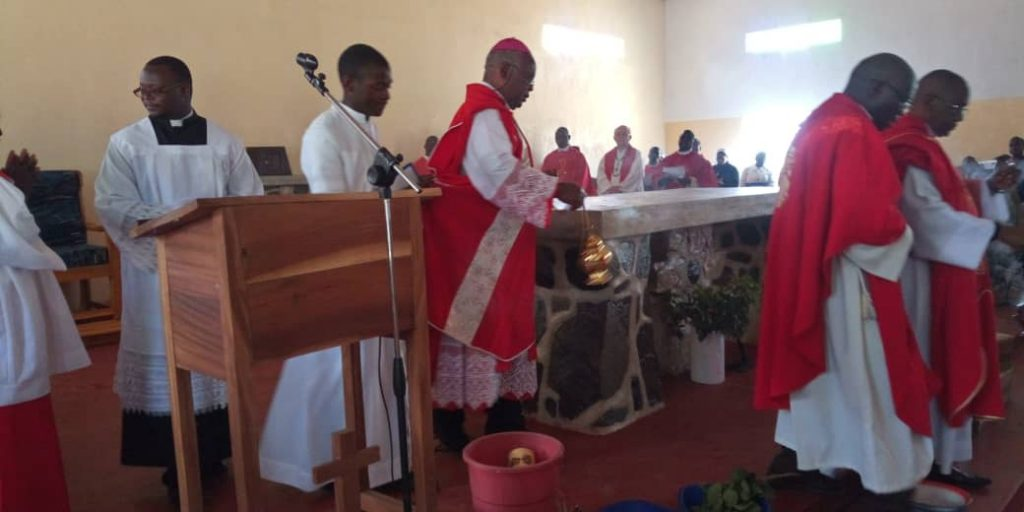 Bishop Mtumbuka Consecrating the Altar