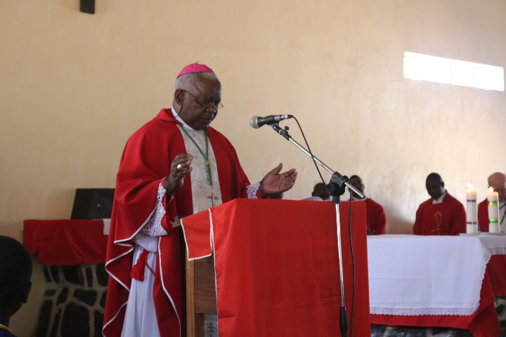 Bishop Mtumbuka captured during the ceremony