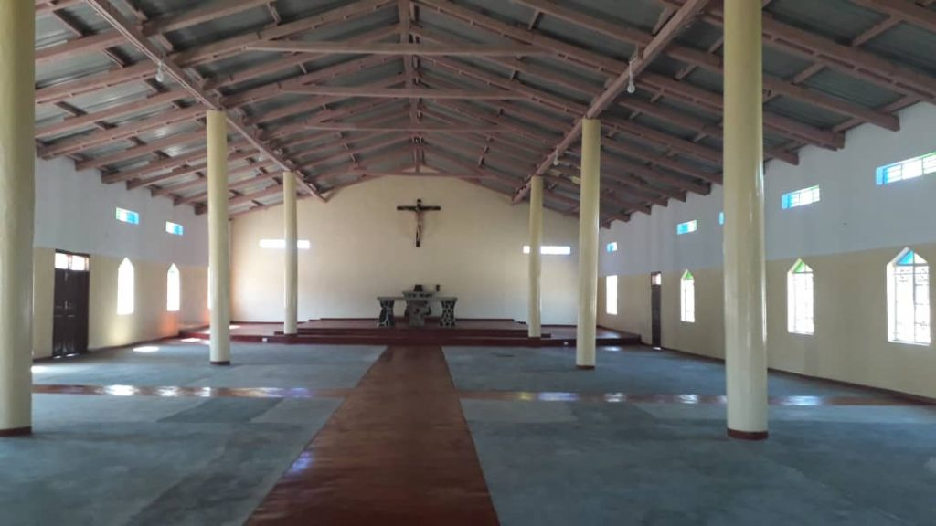 Inside the new St Ignatius (Nthalire) Parish Church