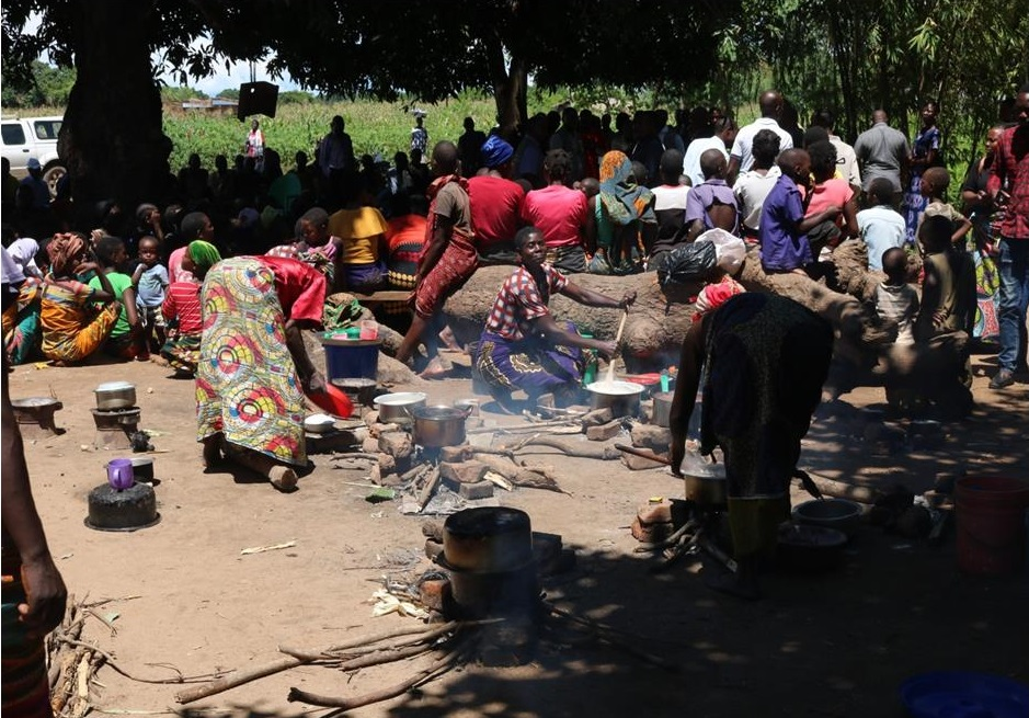 People at one of the camps