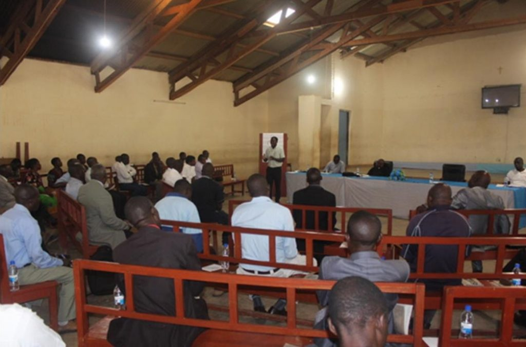 Training of Pastoral Council members from 12 parishes in the Diocese on Covid-19