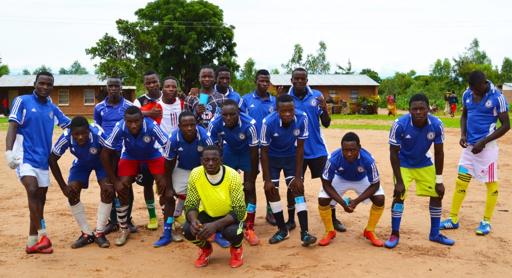 Picture of The winning team: St Steven's youth team posing before the match