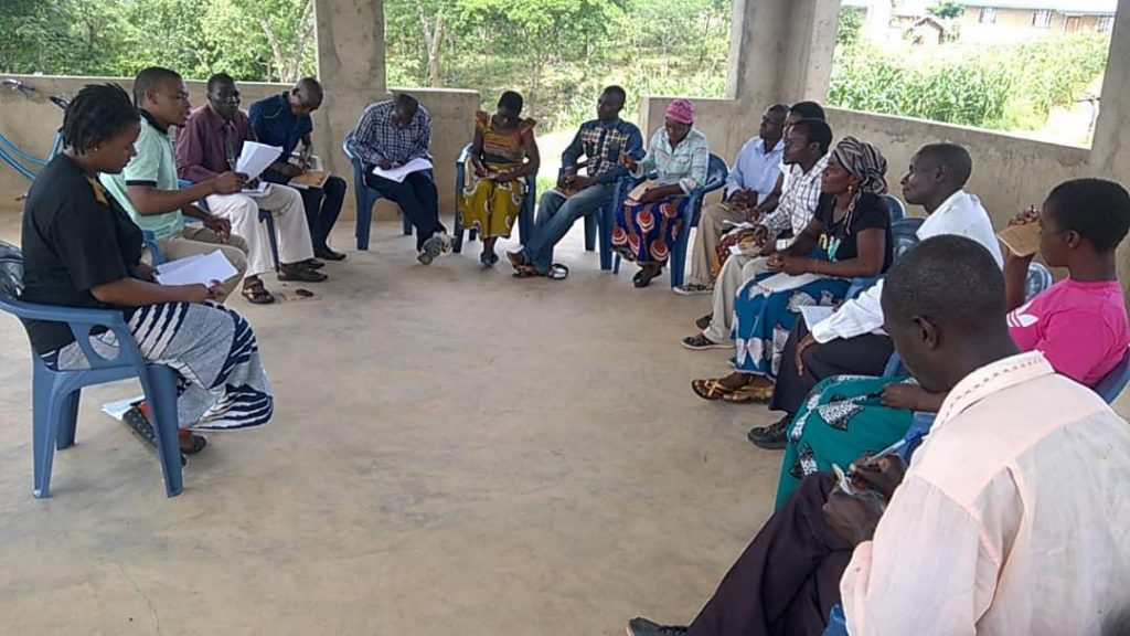 Picture of Project briefing meeting in progress
