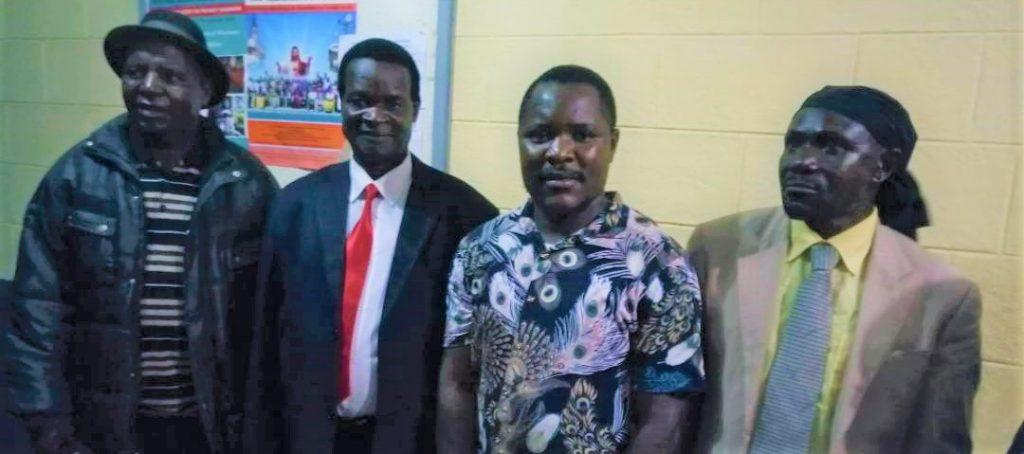 Picture of From left to right Senior Chief Kameme, Mwenemisuku, CCJP Project Officer Abel Malumbira and TA Mwaulambya at Tuntufye FM Studios