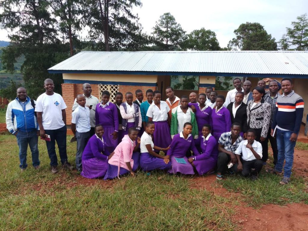 Picture of Members of the monitoring team with Misuku CDSS My Health My Right Club members