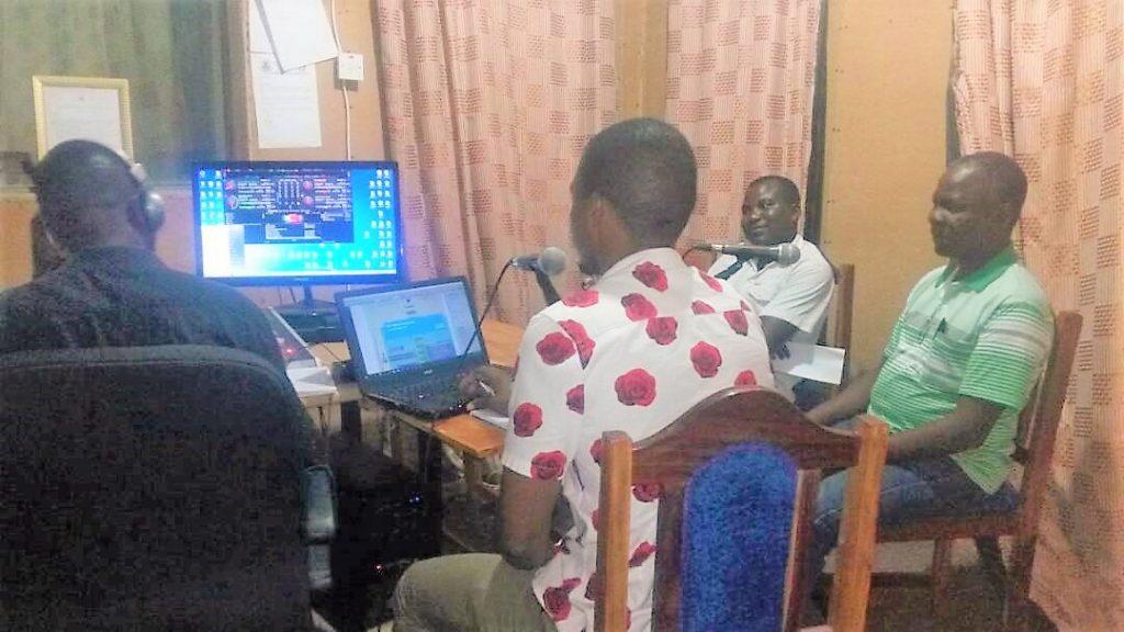 Panelists captured live on Mukuti Uli Programme at Tuntufye FM