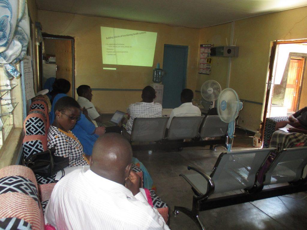 Mr Vincent Shaba, Diocesan Health Desk Officer, making a presentation