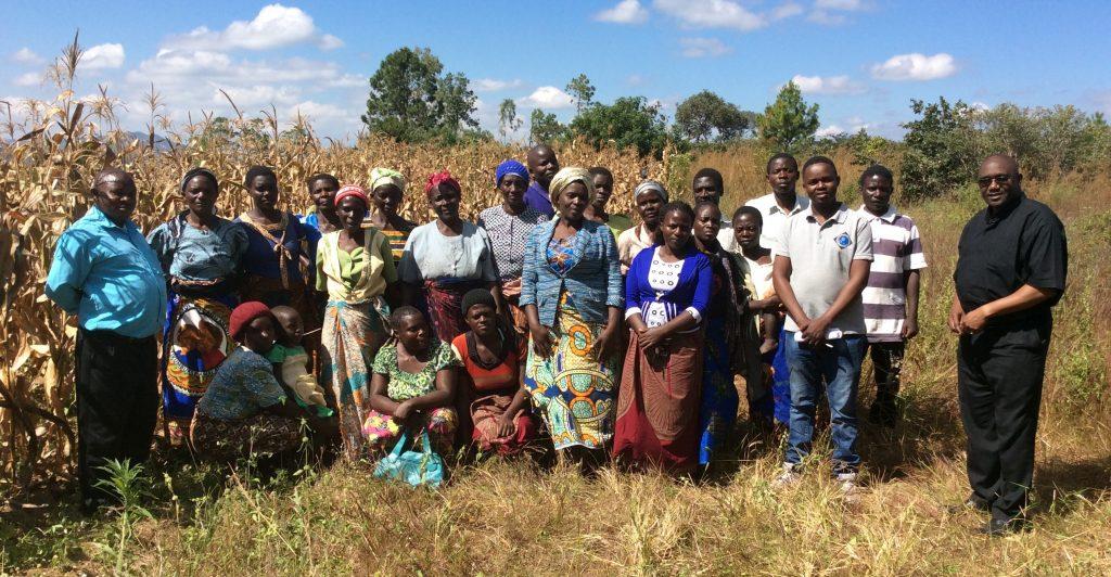 The Vicar General with members of Farmer's Group in Chisenga