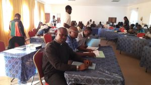 Father Edward Kamanga captured during one of the sessions