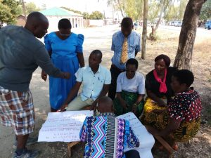 Developing community action plans with CBEs for Primary Justice Project in Chilumba