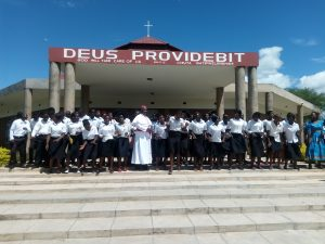 Bishop Mtumbuka with some of the youth to be involved as the YYDM