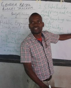 Obert Mkandawire facilitating during the training session