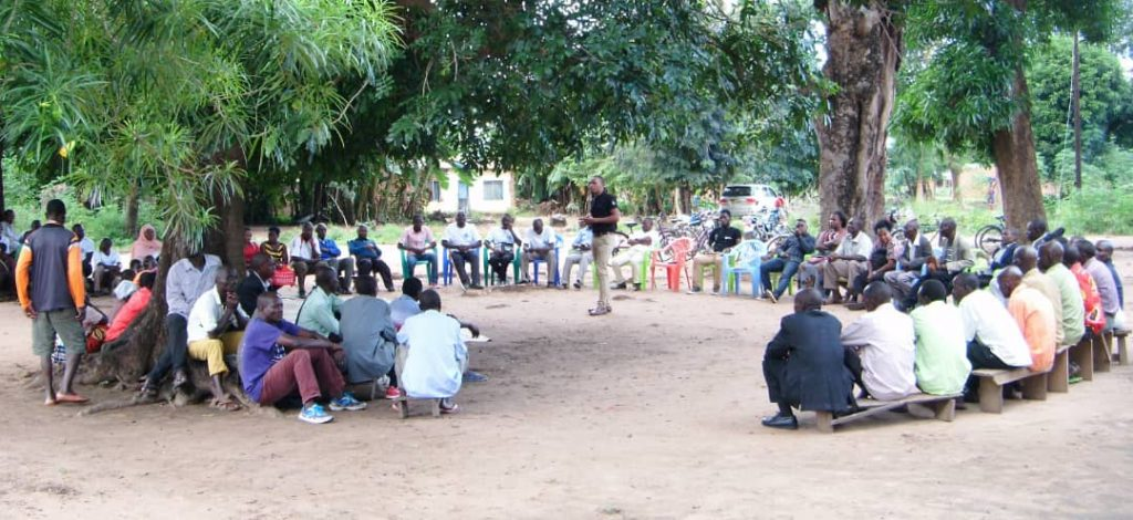 Justice and Peace Project Coordinator Vincent Bwinga addressing the gathering