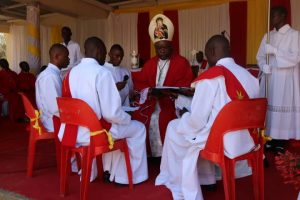 Bishop Mtumbuka Advising the Ordinands As Part of the Rite of Ordination