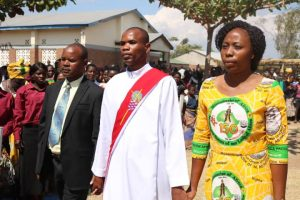 Deacon Anthony Mwafulirwa Being Escorted to the Altar By His Parents