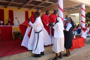 Religious Brothers and Sisters Congratulating the Newly Ordained Priests