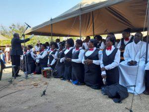 Tuntufye Choir Singing During the Ceremony