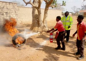 Chitipa Filling Station Fuel Attendants Attain Fire Fighting Skills