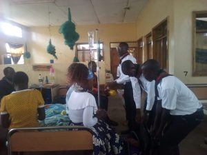 Catholic Scouts Cheer Sick at Chitipa District Hospital