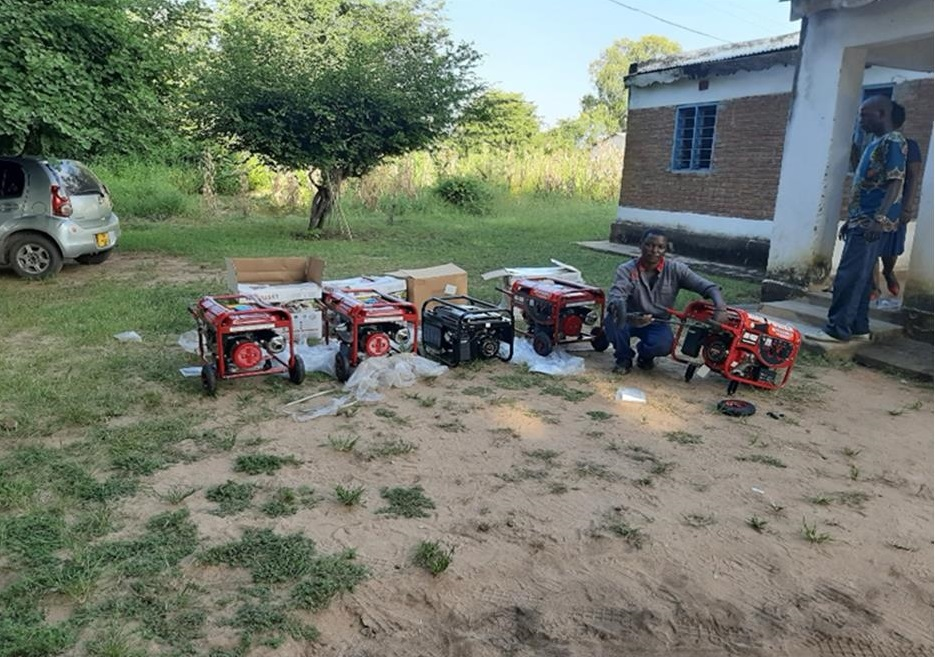 Power-generators-being-checked-before-dispatching-them-to-health-facilities
