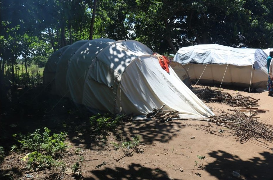 Tents in one of the Camps