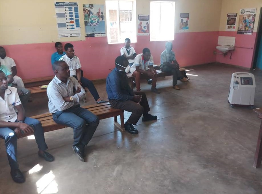 Training session for health facility staff members