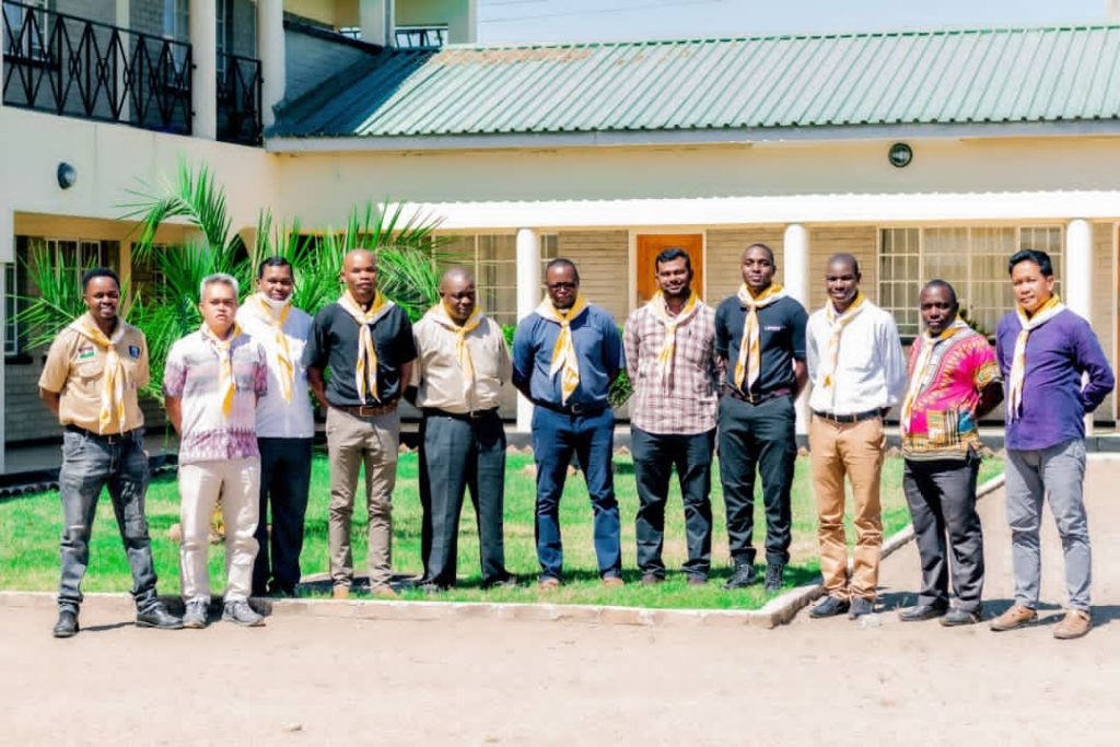 Parish Scout Chaplains with Diocesan Scout Chaplain (fourth from right) and Diocesan Scout Coordinator (1st from Left)